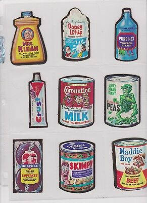 Near set 42 of 44 1967 Wacky Packages  used/punched