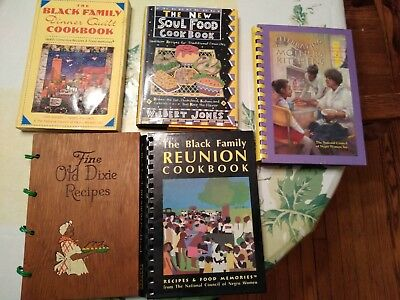 Lot Of 5 African American Black Family Vintage Cookbooks