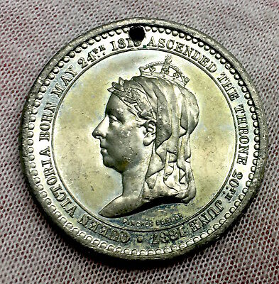 Queen Victoria - Jubilee Of Her Majesty's  Reign 1887  Medal