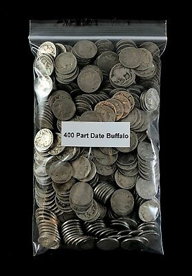Partial Date Buffalo Nickel Lot - 400 Coins - Estate Lot Mixed Mint Marks
