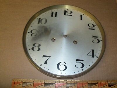Antique German Junghans Wall Clock Face Brass ?/metal Dial For Parts/repair ?