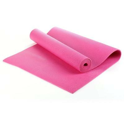 6mm Yoga Mat Thick PVC Exercise Pilates Mat Gym Fitness Pad With Carry Bag