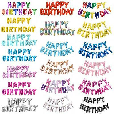 """Happy Birthday Foil Balloons Large Size 16"""" / 21 Colors Choice Premium Quality"""