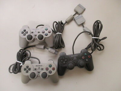PS Playstation Controller SCPH-1200 Gray Black Lot of 3 JAPAN No.2