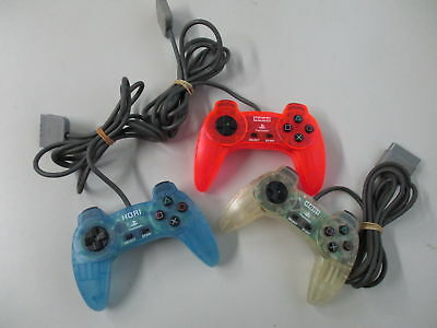 PS1 HORI PAD 2 Controller Lot of 3 /Yellowed Scratches JAPAN No.12
