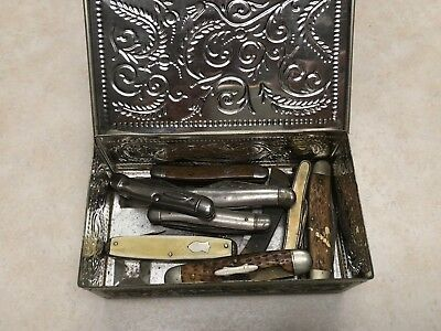 Box of 9 Vintage Pocket Knives