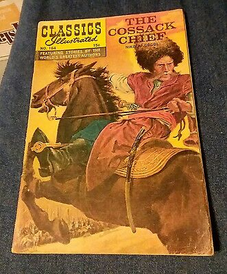 CLASSICS ILLUSTRATED #164 gd+ THE COSSACK CHIEF HRN #164 1st print edition comic