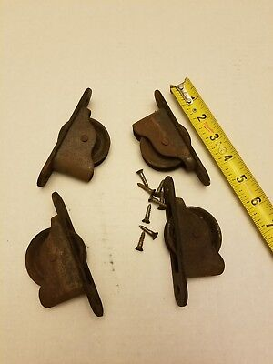 Lot Of 4 Vintage Window Weight Pulleys