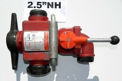 """4 way hydrant valve 2.5"""" NH Akron brass 2 1/2 inch NST works well four way"""