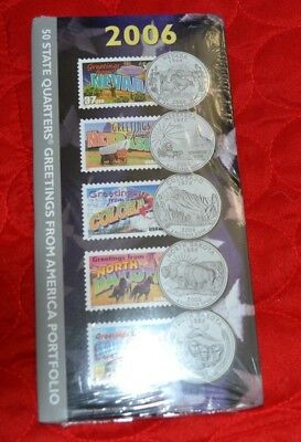 2006 50 State Quarters Greetings from America Portfolio New - Sealed