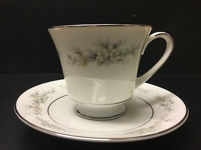 Noritake Cup And Saucer Set Of 1, Contemporary Fine China, Melissa3080. A112jv
