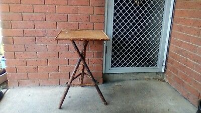 Bamboo Split Cane Tiger Cane  Plant Table As Is Condition