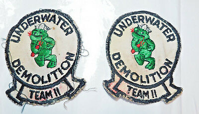 2 used US Navy patch Underwater Demolition Team 11
