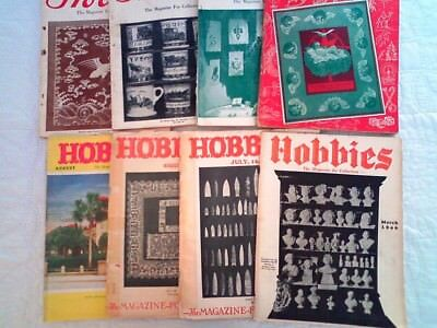~Vintage~HOBBIES The Magazine For Collectors~~Lot of 8~~1946 to 1954
