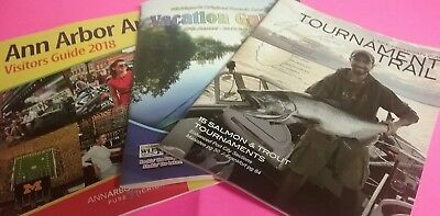 Lot Of 3 Michigan Tour and Vacation Guides 2018