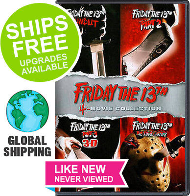 Friday the 13th Uncut / Part 2 / Part 3 3D / Final Chapter (DVD 2013) Collection