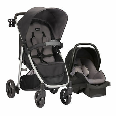 Evenflo Flipside Travel System With Litemax Infant Baby Car Seat (Glenbarr Gray)