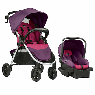 Evenflo Folio Travel System With Litemax Infant Baby Car Seat (Multipl Colors)