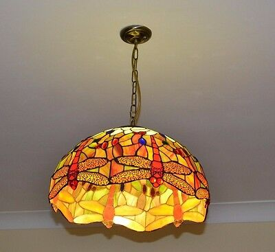 Tiffany Style Lightshade - Dragonfly - 17 Inch / 43cm Diameter Approx
