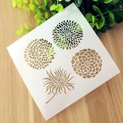 Flower Flora Design Layering Stencil Template DIY Scrapbooking Home Decorate