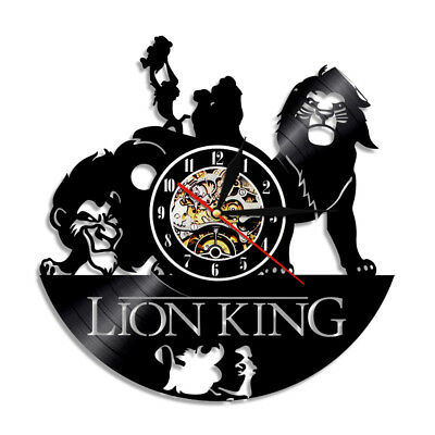 The Lion King Vinyl Record Concept Wall Clock Decorative CD Clocks Cosplay Xmas