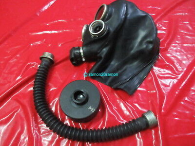 Gasmaske Latex Latexhaube Gas Maske Gas Mask  Chemical Atemschutz