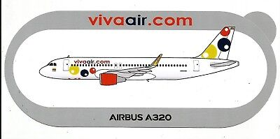 Nouveau !!! Airbus Sticker A320 Viva Air Colombia - Neuf