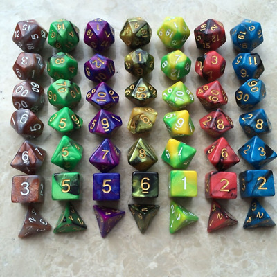 7Pcs/Set D4-D20 Muti-Sided Polyhedral Dices For RPG DND MTG Role Playing Games