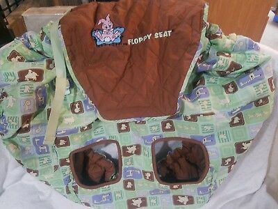 Floppy Seat Shopping Cart High Chair Cover Animals  Pattern in Green Blue Brown