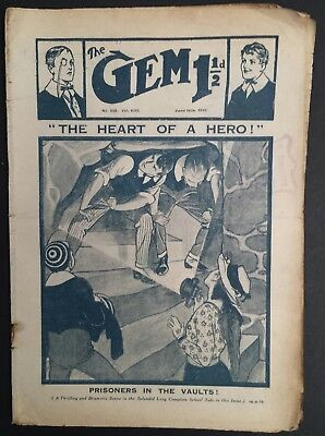 The Gem Library Comic - 592 - June 14th 1919  Vintage