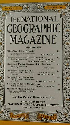 National Geographical magazine August 1957  Butterflies/History written in skies