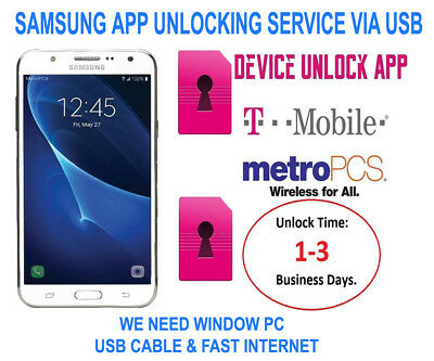 NETWORK UNLOCK SERVICE APP VIA USB SAMSUNG Galaxy SM-G950U S8 T-Mobile