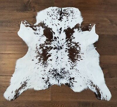 Cow hide, hand crafted soft hair-on Animal skin real leather rug | Peau de vache