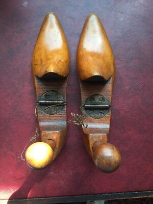 Pair of Vintage Wooden Shoe Last - Approx 1930s
