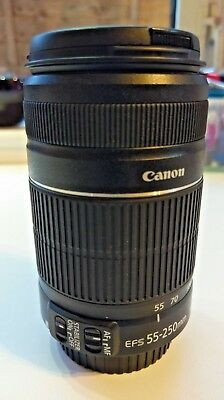 Canon EF-S  55-250mm 1:4-5.6 IS 11 Image Stabilizer Telephoto Zoom Lens ex cond