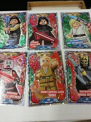 STAR WARS LEGO TRADING CARDS SERIES ONE - 6 SPECIAL Foil  CARDS NM