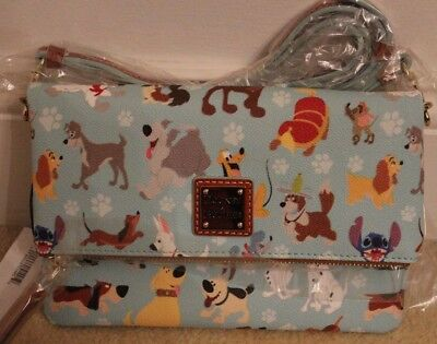 DISNEY Dooney & Bourke DOGS Foldover Crossbody Purse PERFECT PLACEMENT New NWT!!