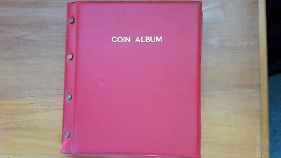 Collection Of World Coins In Album + Bank Notes