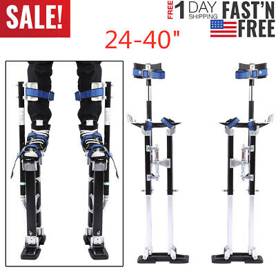 24-40 Inch Drywall Stilts Aluminum Tool Stilt For Painting Painter Taping Black