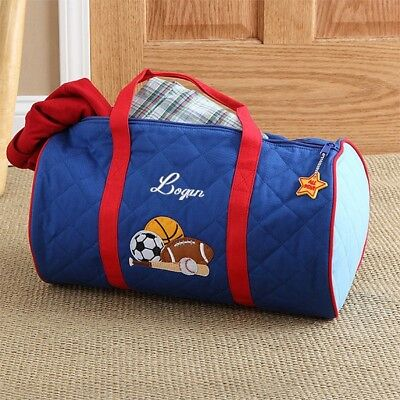 Quilted Personalized Embroidered All-Star Duffel Bag by Stephen Joseph - LOGAN