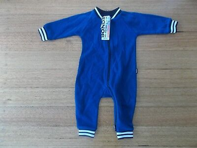 NEW WITH TAGS! BONDS Baby Boys Trackie Wondersuit Size 00 (3-6mths) RRP$39.95