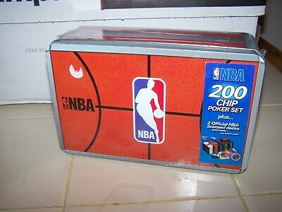 All Pro Deal NBA 200 Chip Poker Set  in COLLECTOR TIN