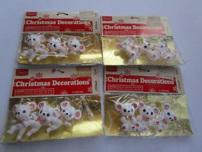 Vintage Sears Christmas Decorations Dancing Mouse Teddy Bear Japan Package Lot
