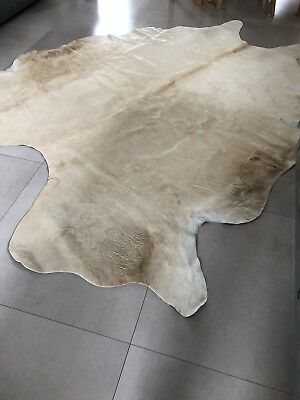 large cow skin , cow hide rug , cream beige colour from Marks and Spencers