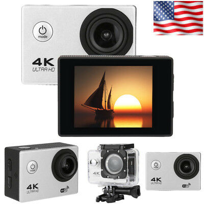 Waterproof 4K Wifi HD 1080P Ultra Sports Action Camera DVR Cam Camcorder Silver