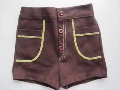 Vintage childrens shorts baby vintage brown 60's age 2-3 world book day