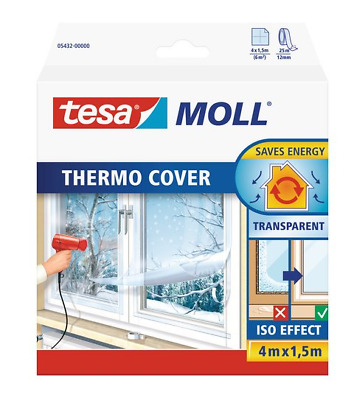 tesamoll Thermo Cover Fensterisolierfolie 4mx1,5m transparent Fenster abdichten