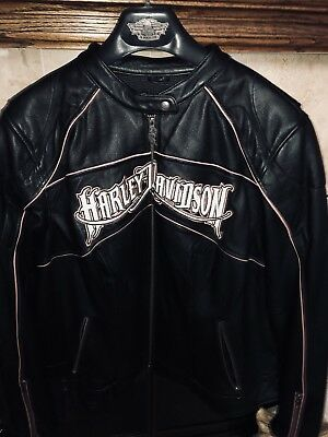 Harley Davidson womens Pink Edition Leather Coat
