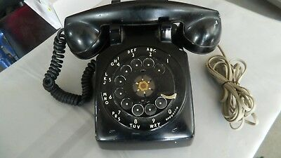 Rotary Phone-(Old)-1-39-Black Desk-Heavy-Western Electric-53-2G