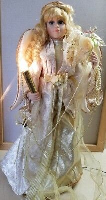 """Animated Motion Motionette Christmas 27"""" Angel Holding Candle ~ AC Adapter incl"""